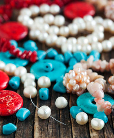 colorful beads: Different colorful beads