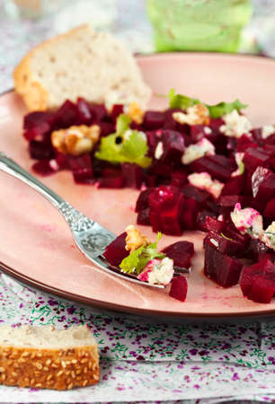 beetroot: Beetroot Salad with blue cheese and walnuts