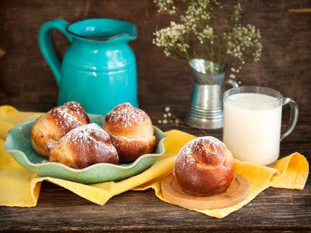 yeast: Sweet Yeast Roll Buns Stock Photo