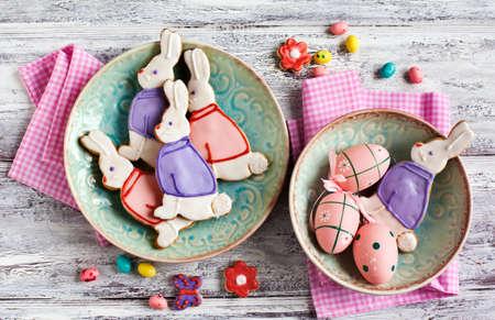 easter cookie: Easter bunny cookies. Shortbread cookies.