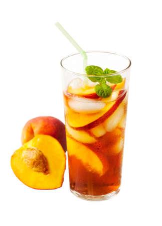 té helado: Peach Iced Tea Foto de archivo