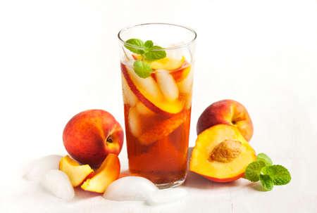 Peach Iced Tea Banque d'images