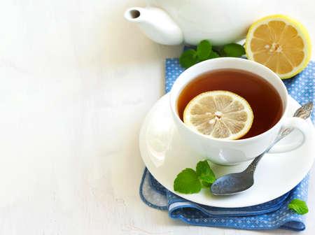 horisontal: Cup of Lemon Tea.