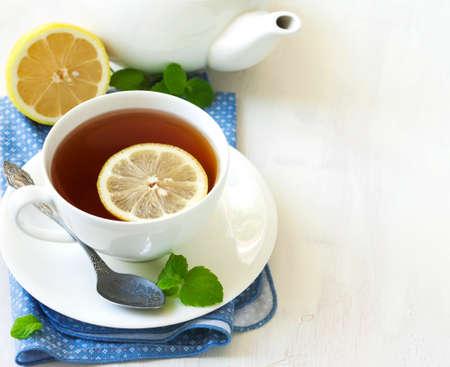 tea table: Cup of Lemon Tea.