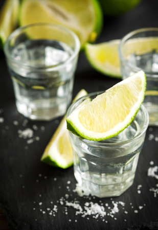 tequila: Tequila shot with lime
