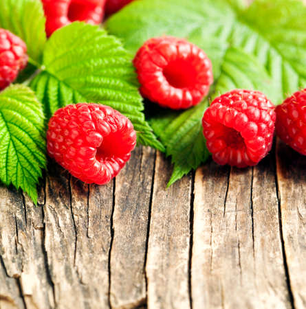 organic raspberry: Fresh organic raspberry. Stock Photo