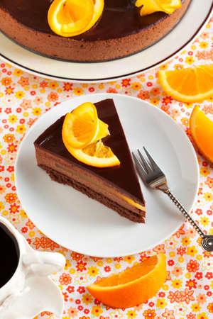 mousse: Orange Chocolate Mousse Cake