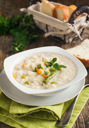 chowder: Potato and corn chowder