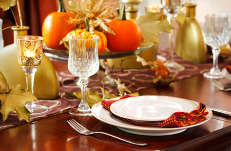 thanksgiving: Thanksgiving table setting