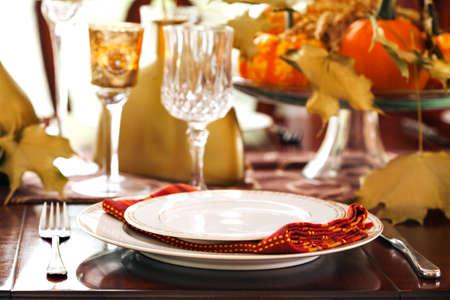 decoracion mesas: Ajuste de la tabla de Acción de Gracias