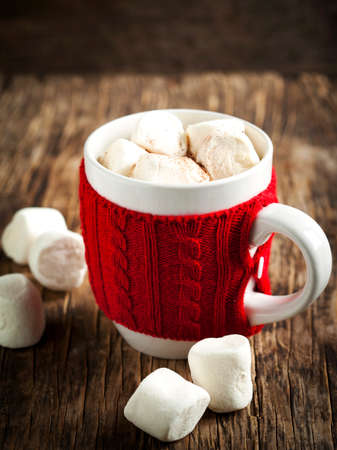 Mug filled with hot chocolate and marshmallows Reklamní fotografie