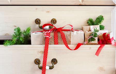 drawer: Christmas gift  in dresser drawer