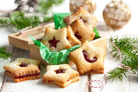 Christmas Linzer Cookies