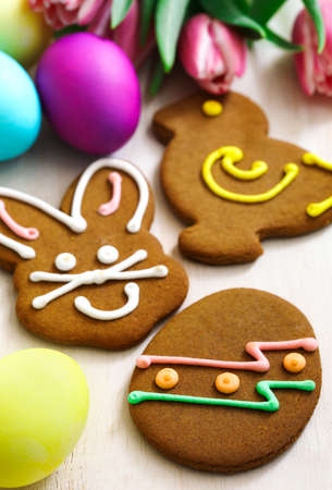 Easter gingerbread cookies Stock Photo