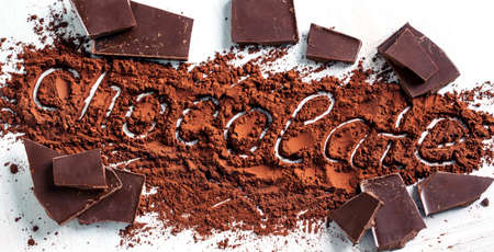 Chocolate and coco powder Stock Photo
