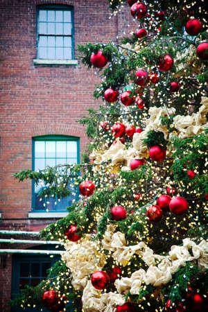 Christmas tree in Distillery Historic District, Toronto, Canada