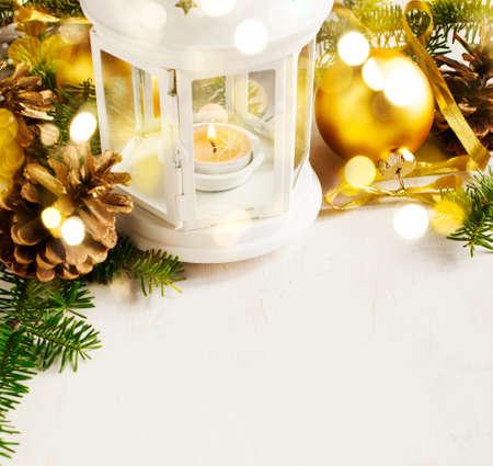 Christmas decoration. Christmas background, Selective focus Imagens
