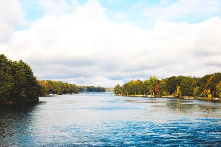 Autumn season in Muskoka Lakes, Ontario, Canada Stock Photo