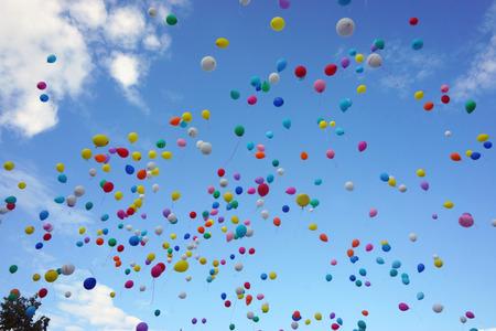 palloncini nel cielo Archivio Fotografico