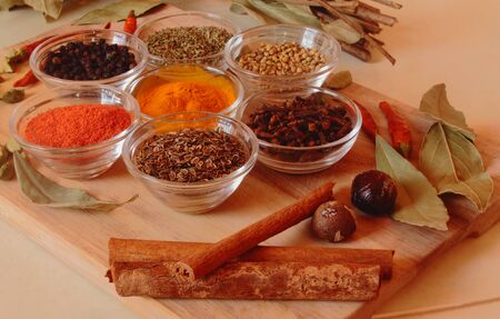 indian mustard: spices on the table, useful for acute