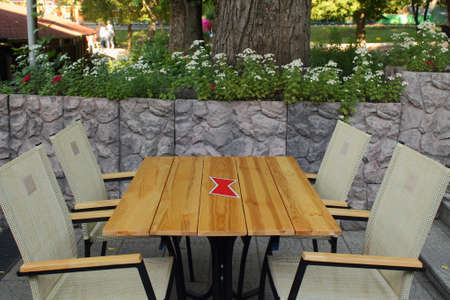 outdoor cafe: outdoor cafe table and chairs