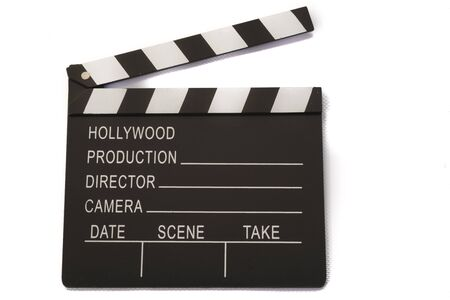 flapping: film board on white background Stock Photo