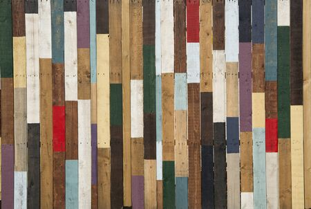 colored wood, mixed painted shelfs