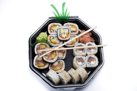 chop stick: assortment sushi in box