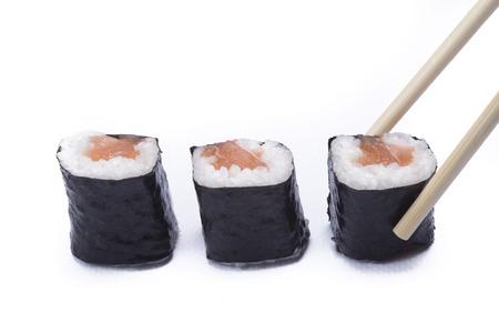 sake maki: sake maki isolated on white background