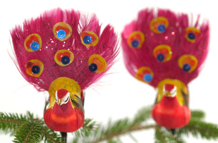chrismas: colorful Chrismas decoration on a white background Stock Photo
