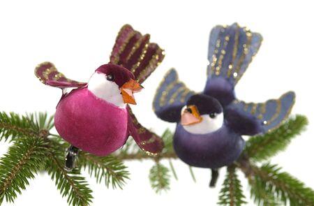 merry chrismas: colorful Chrismas decoration on a white background Stock Photo