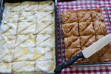 traditionally: baklava is a traditionally middle eastern near east cuisine