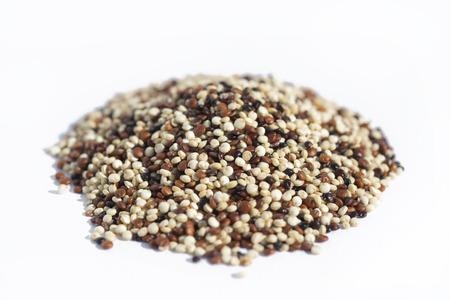 quinoa mix on white background