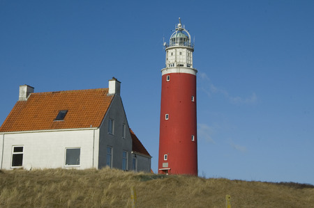 texel: lighthouse, De Cocksdorp, Texel Island, Netherlands Stock Photo