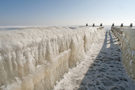 superiors: cold winter landscape with ice, The Netherlands