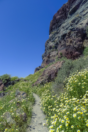 santorini greece: walk around rock at Imerovigli, Santorini Greece
