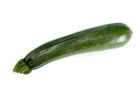 courgette: green courgette vegetable on a white background