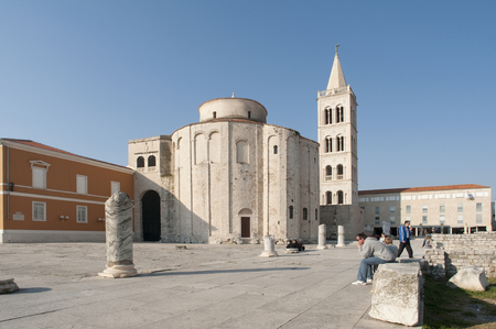 building monumental: Church of st. Donat, a monumental building from the 9th century in Zadar, Croatia