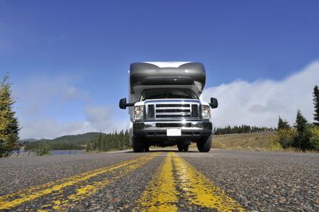roadtrip: roadtrip with motorhome in Indian summer Quebec Canada