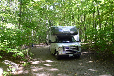 provincial forest parks: roadtrip with motorhome in Indian summer Quebec Canada