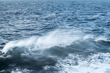 wheater: waves at wild sea, seen from cruise ship