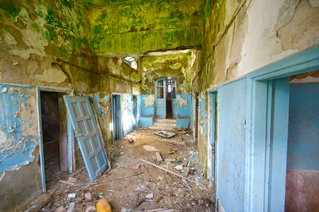 inside old abandoned house at Lesvos Greece