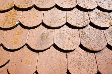 roof shingles: Roof tiles on a house at the romantic street Germany