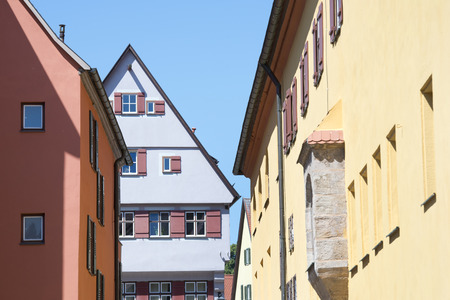 Beautiful village Dinkelsbuhl at the romantic Road in southern Germany