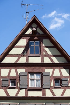 bayern old town: Beautiful village Dinkelsbuhl at the romantic Road in southern Germany