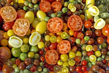 Cherry tomatoes. Tomatoes, They come in many different varieties colors and sizes.