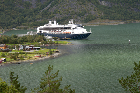 Cruise ship Eidfjord making a tour in Norway