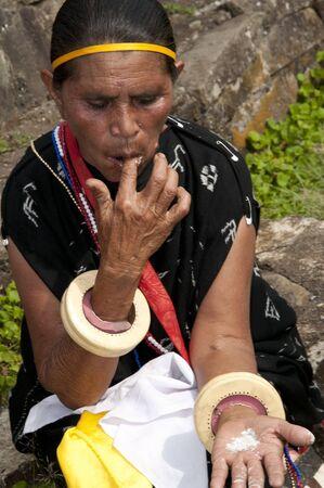 Flores-december 02. Inhabitant at Wagomenge Flores Indonesia 02-12-2012