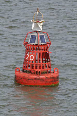 Traditional Buoy in the Waddenzee, Texel the Netherlands Stockfoto