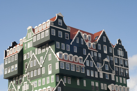 A mix of modern and traditional Dutch architecture